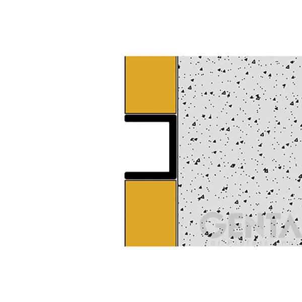 Bản vẽ thi công Nẹp U nhôm 10mm LEA108, màu inox