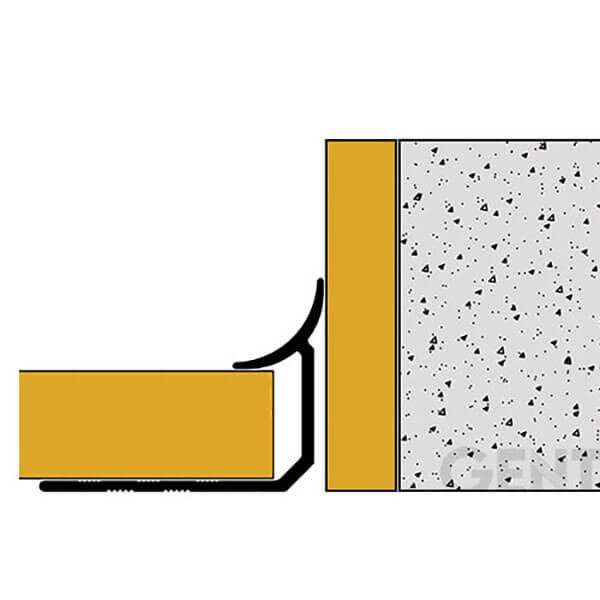 Thi công nẹp nhôm góc trong TI120