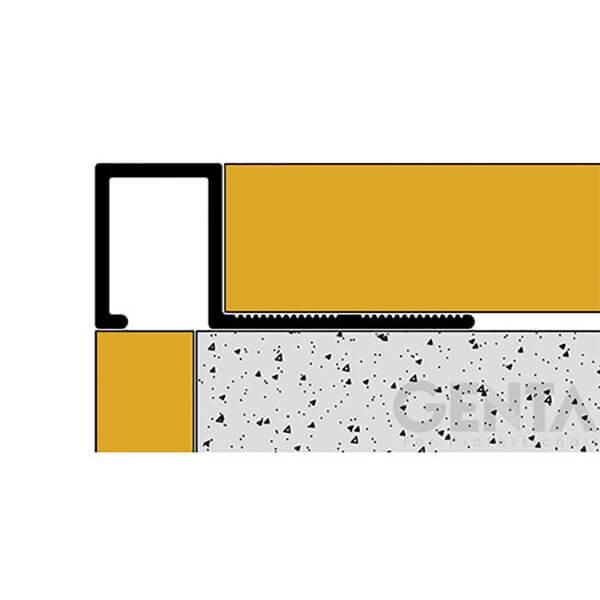 Thi công Nẹp nhôm ốp góc vuông TSAP120 3D