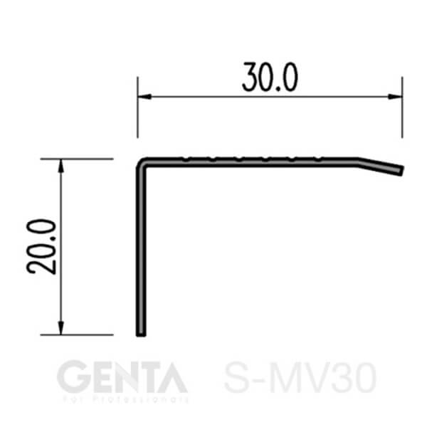 Mặt cắt nẹp S-MV30