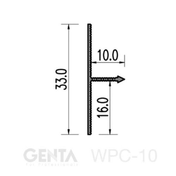 Thông số của nẹp mốc trát tường WPC-10