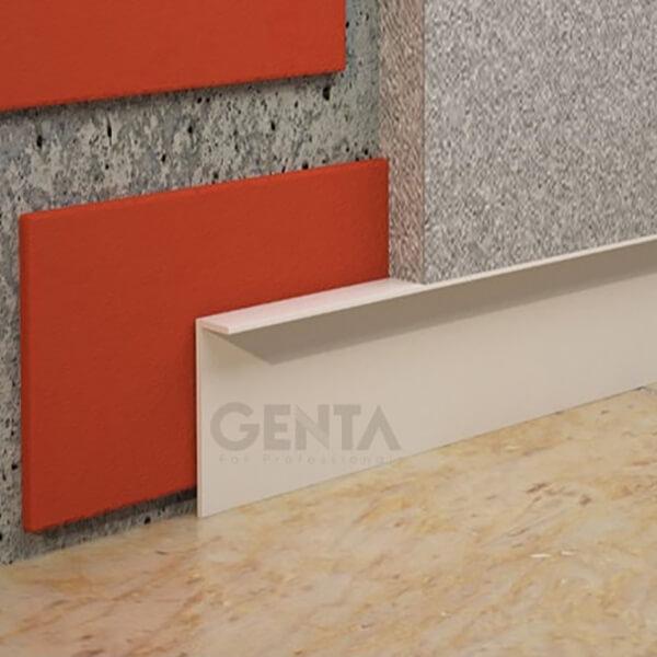 Minh họa nẹp len âm chân tường nhựa L10-40