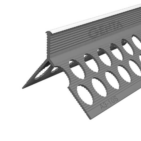 Nẹp góc trát tường nhựa A3-10S (mũi tròn)