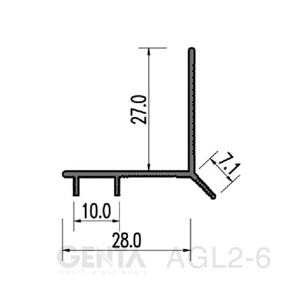 Thông số nẹp chỉ ngắt nước AGL2-6