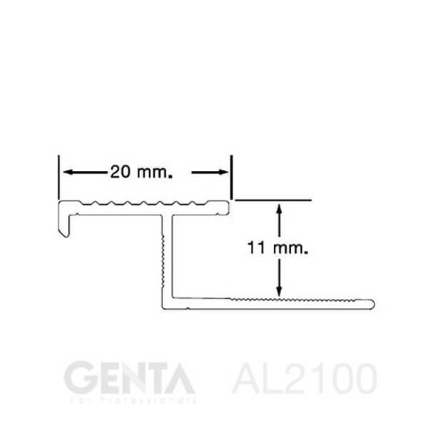 Mặt cắt nẹp AL2100