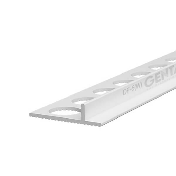 Nẹp nhựa tách khe vật liệu DF-5W, trắng
