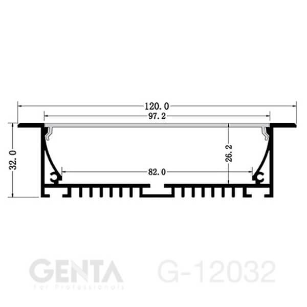 mặt cắt nẹp G-12032