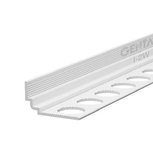 Nẹp nhựa trát góc âm I-2 (W), trắng
