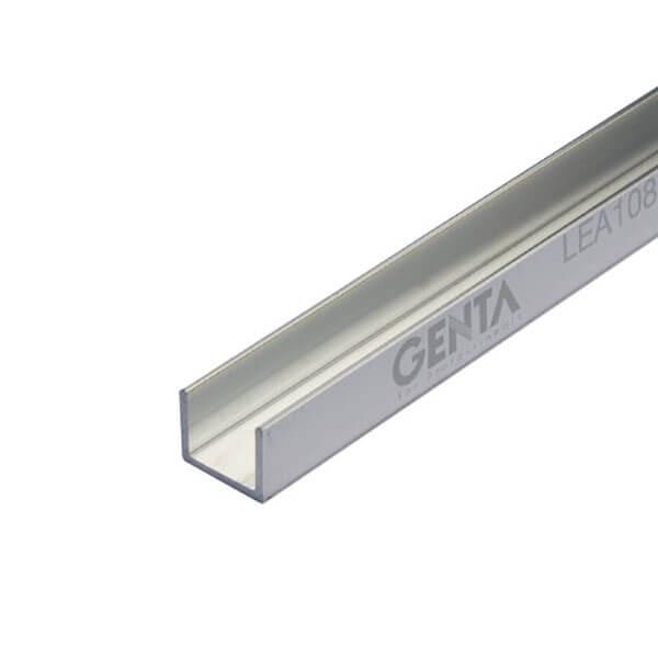 Nẹp U nhôm 10mm LEA108, màu inox