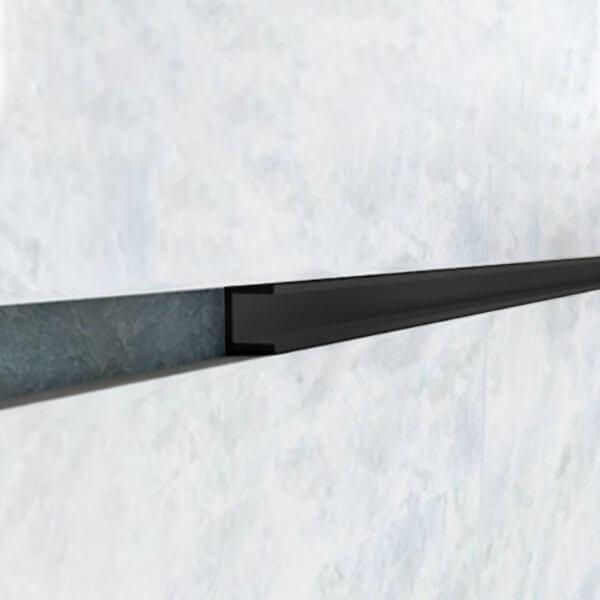 Nẹp U nhôm 10mm LEA108, đen mờ
