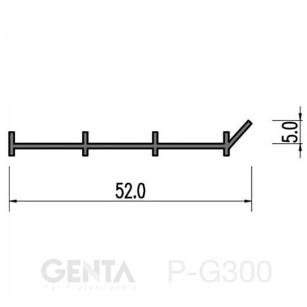 Thông số nẹp nhựa trát góc P-G300