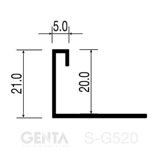 Mặt cắt nẹp S-G520