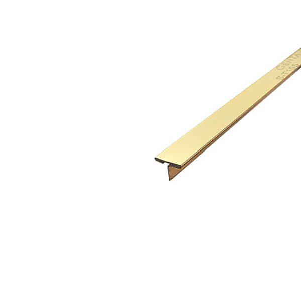 Nẹp T inox 10mm S-T105, vàng bóng