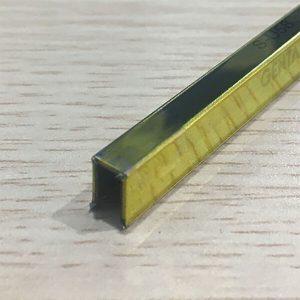 Nẹp U inox 5mm S-U58, màu vàng bóng