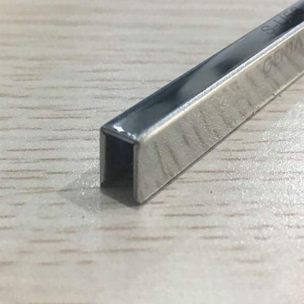 Nẹp U inox 5mm S-U58, màu inox bóng