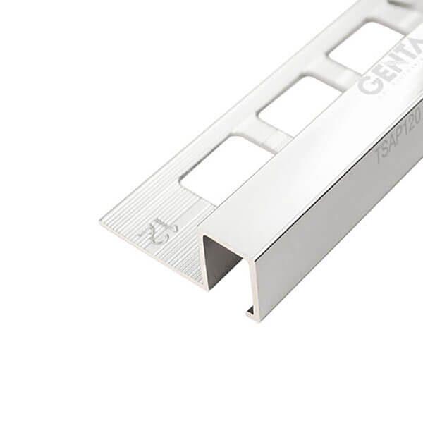 Nẹp nhôm bo góc vuông TSAP120 (S) màu inox