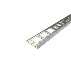 Nẹp nhôm ốp góc dẹt (bo cạnh) TSD050, màu inox