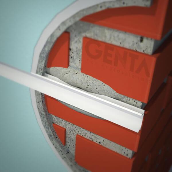 Thi công nẹp chỉ âm tường GL-25