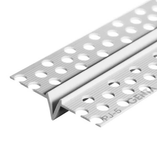 Nẹp ron âm thạch cao PJ-5 (5mm), Nhựa trắng