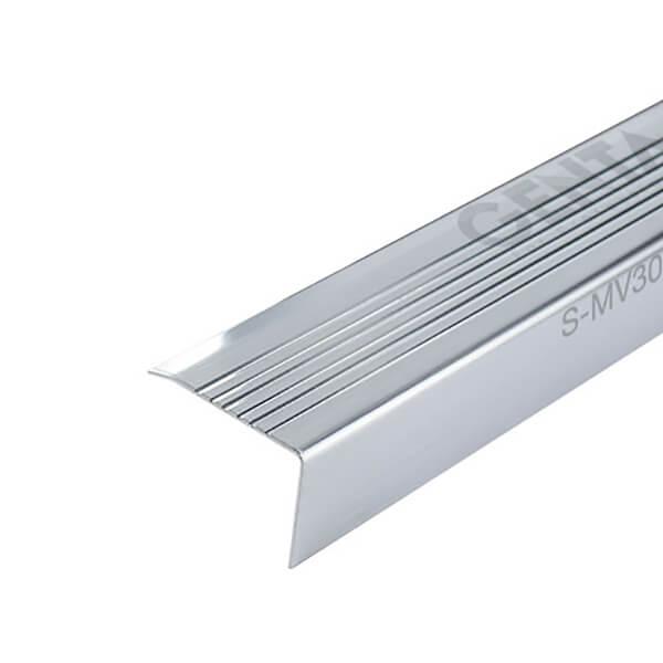 Nẹp chống trơn mũi bậc cầu thang inox S-MV30