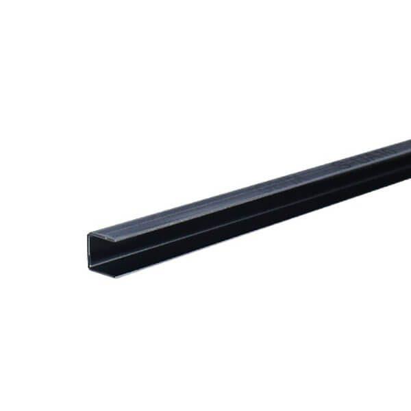 Nẹp U âm inox 10mm S-UA10, đen bóng