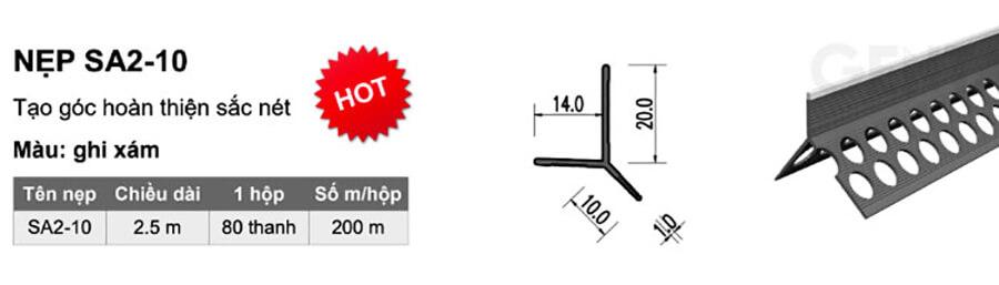 Thông tin sản phẩm nẹp SA2-10