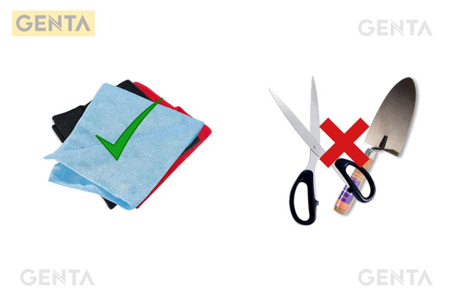Không dùng dụng cụ kim loại để vệ sinh nẹp chữ V S-V20 inox bóng