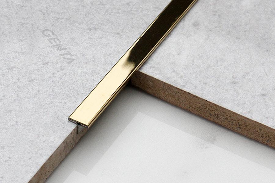 Công dụng nẹp T inox 8mm S-T85 vàng bóng