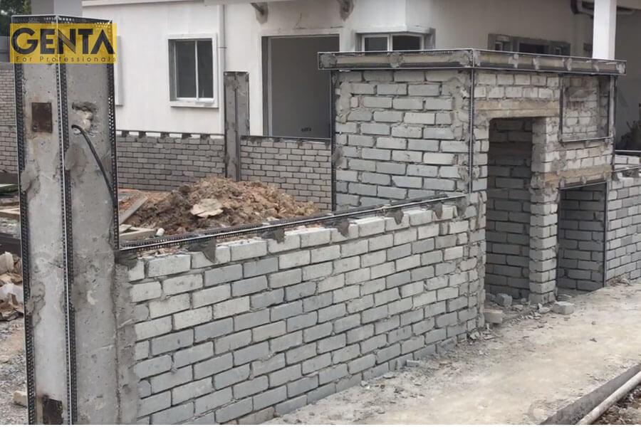 Công trình phụ trợ sử dụng nẹp trát tường