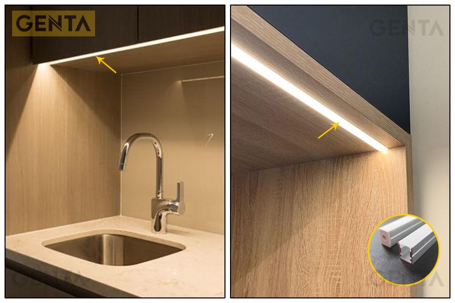 Nẹp đèn led thanh nhôm G-1013 được ứng dụng đa dạng trong trang trí nội thất