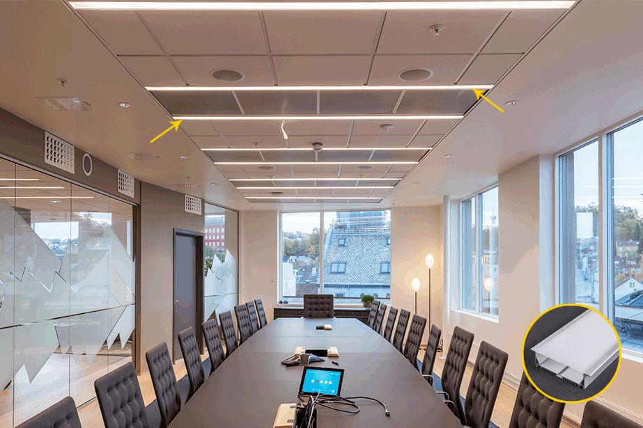 Văn phòng được chiếu sáng bằng thanh led nhôm G-12032
