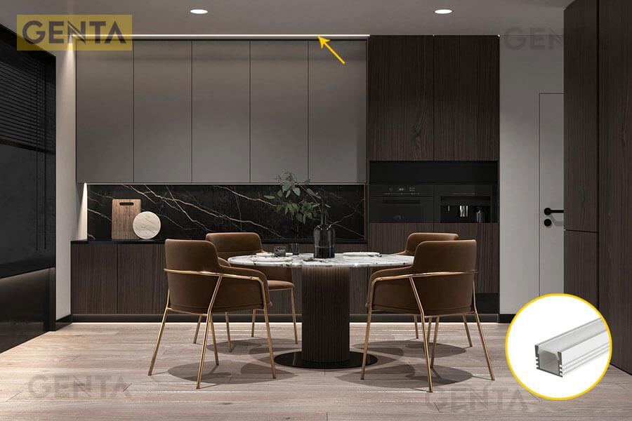 Đèn led thanh nhôm G-1612 tạo dải ánh sáng tinh tế trang trí nội thất