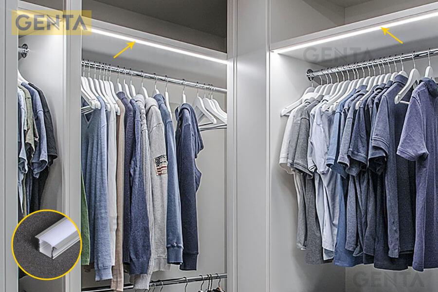 Đèn led thanh nhôm G-2415 gắn trong tủ quần áo