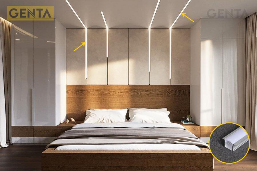 Đèn led thanh nhôm G-2415 trang trí phòng ngủ