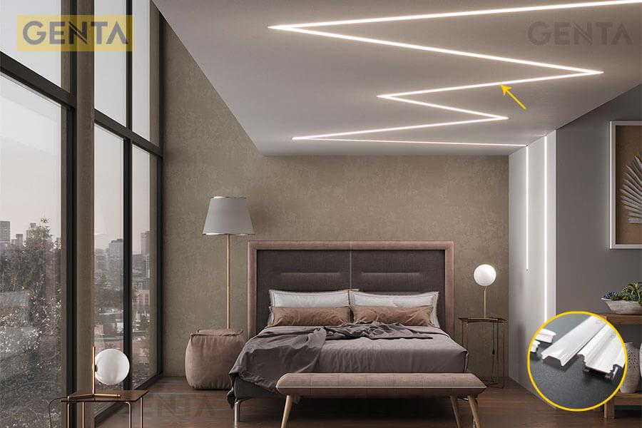 Đèn led thanh nhôm G-3010 tạo điểm nhấn ánh sáng cho nội thất