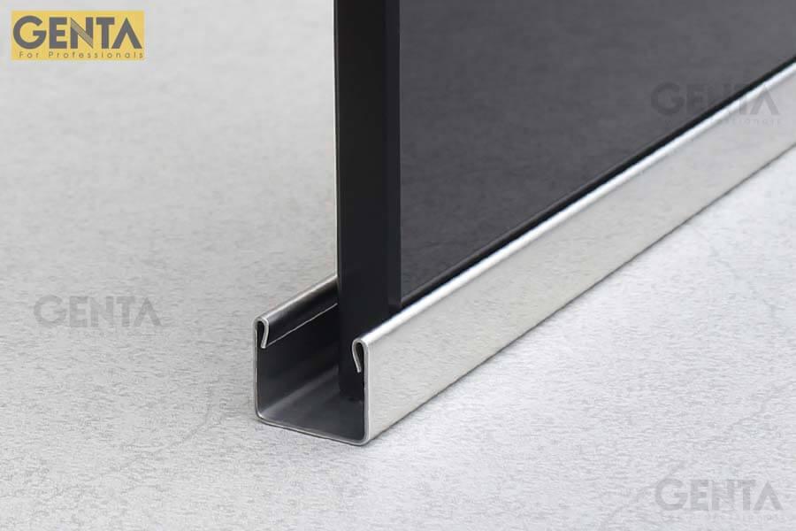 Nẹp U kính inox S-UK12 phù hợp với chiều dày kính 10-12mm