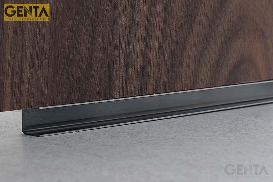 Nẹp U âm inox S-UA10 kết hợp với gạch ốp lát