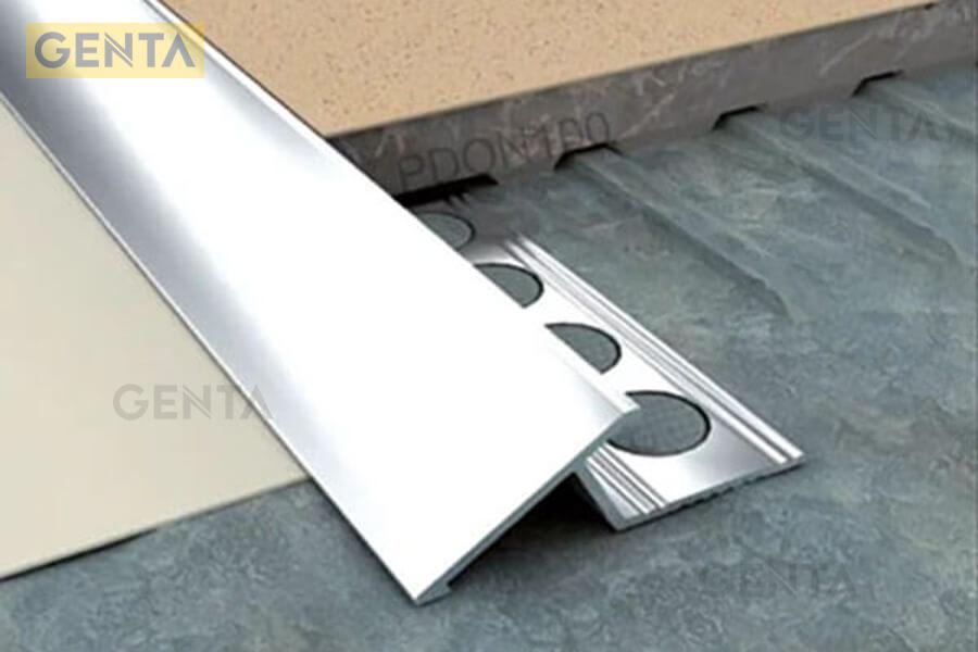 Hình ảnh nẹp chênh cốt sàn gạch PDON100 tại GENTA