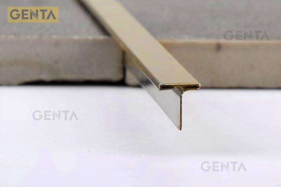 Hình ảnh nẹp chữ T inox S-T66 vàng bóng