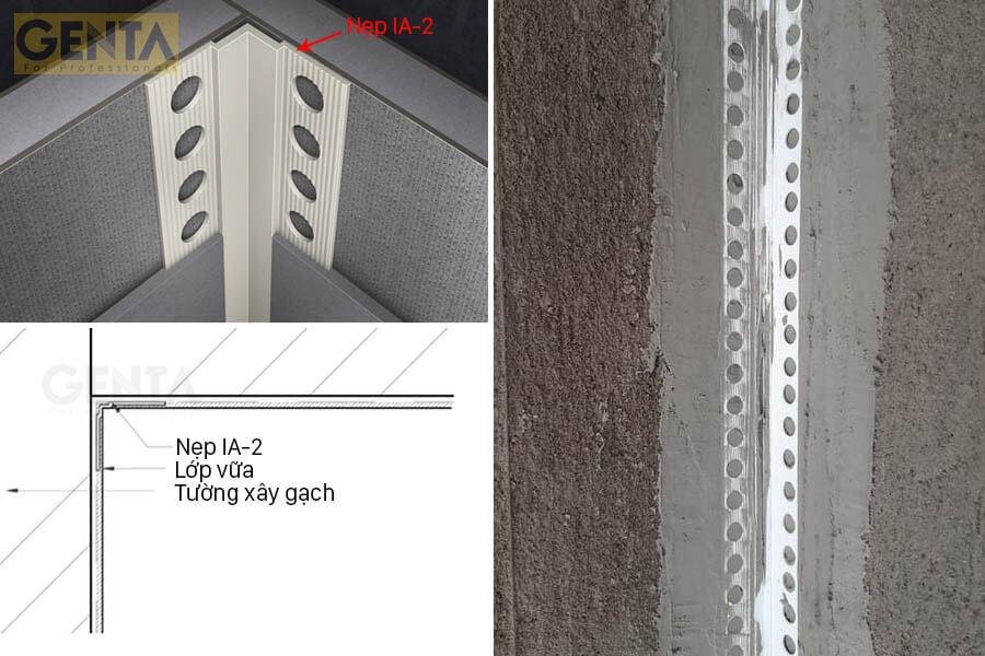Chi tiết góc tường hoàn hảo khi sử dụng nẹp