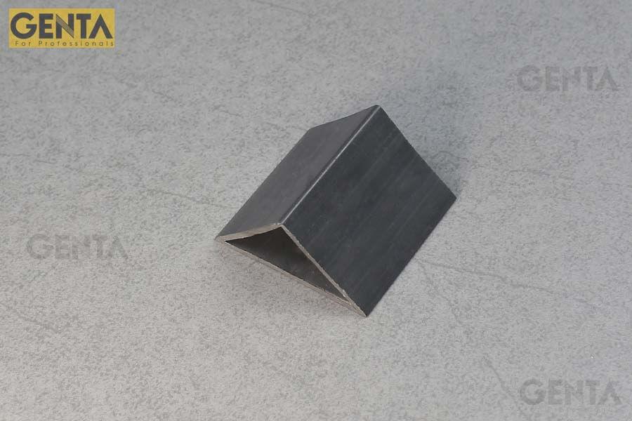 Phối cảnh nẹp nhựa vát góc 50mm G-TA-50 ghi xám