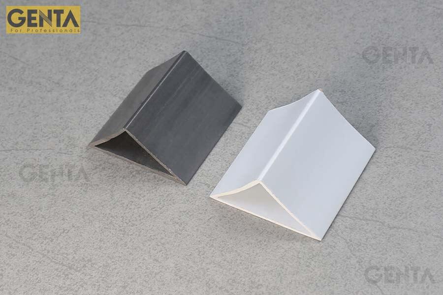 2 mẫu nẹp nhựa vát góc 50mm của GENTA