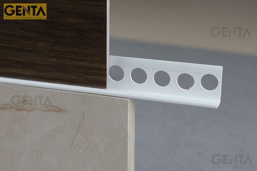 Sử dụng nẹp chặn vữa giữa 2 mảng vật liệu