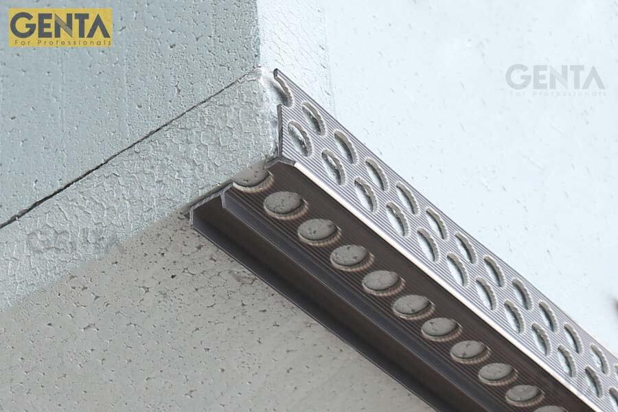 Nẹp chỉ ngắt nước được gắn ở vị trí lanh tô, ô văng, ban công, hành lang, cửa sổ