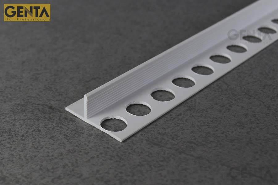 Nẹp len chân tường âm DF-10 phù hợp với chân tường hoàn thiện dùng phào gỗ, phào đá