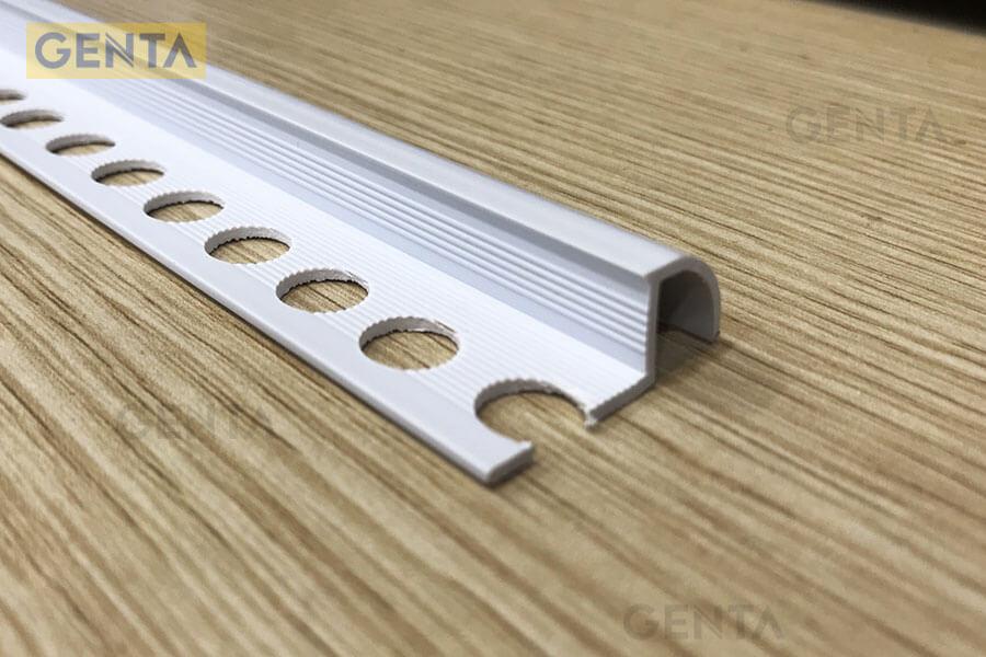Hình ảnh nẹp nhựa bo góc tròn T-10 (W)