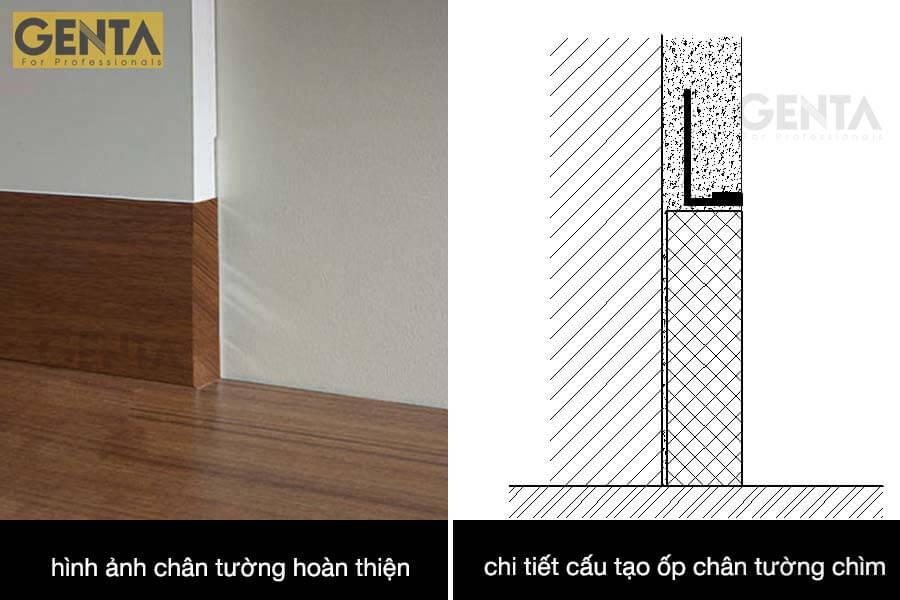 Ứng dụng thi công nẹp chắn tường