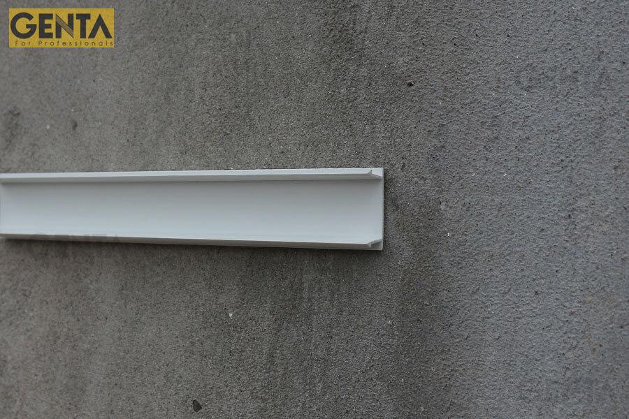 Nẹp chỉ âm tường 2.5cm GL-25(W) tạo đường ron âm trang trí