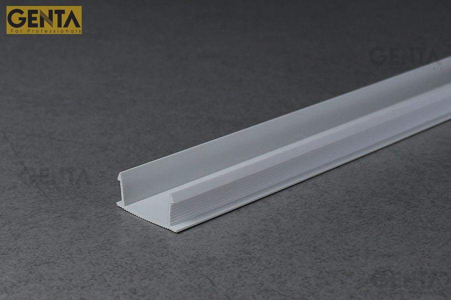 Nẹp chỉ âm tường 2.5cm GL-25(W) có tác dụng trang trí bề mặt tường tô trát