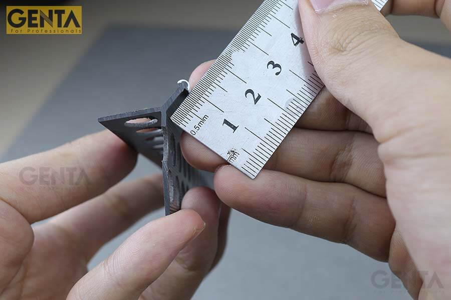 Nẹp góc trát tường A3-10S có chiều dài mũi 9mm